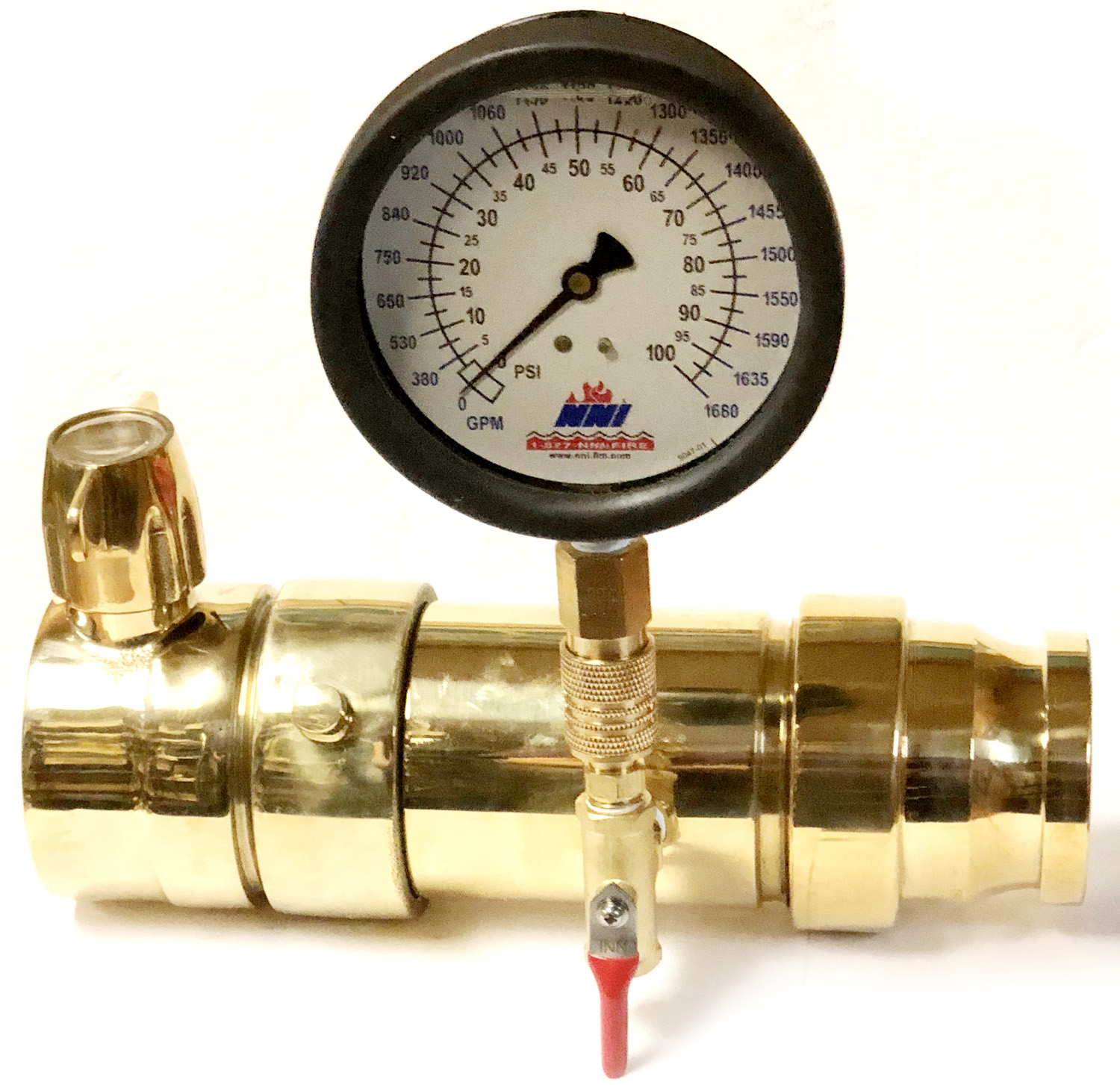 Nni fire hydrant flow testing swivel diffusers 060 for 60 psi1300gpm 100 for 100psi1680gpm 160 for 160psi2120gpm data sheet in line pitot flow gauge nvjuhfo Choice Image