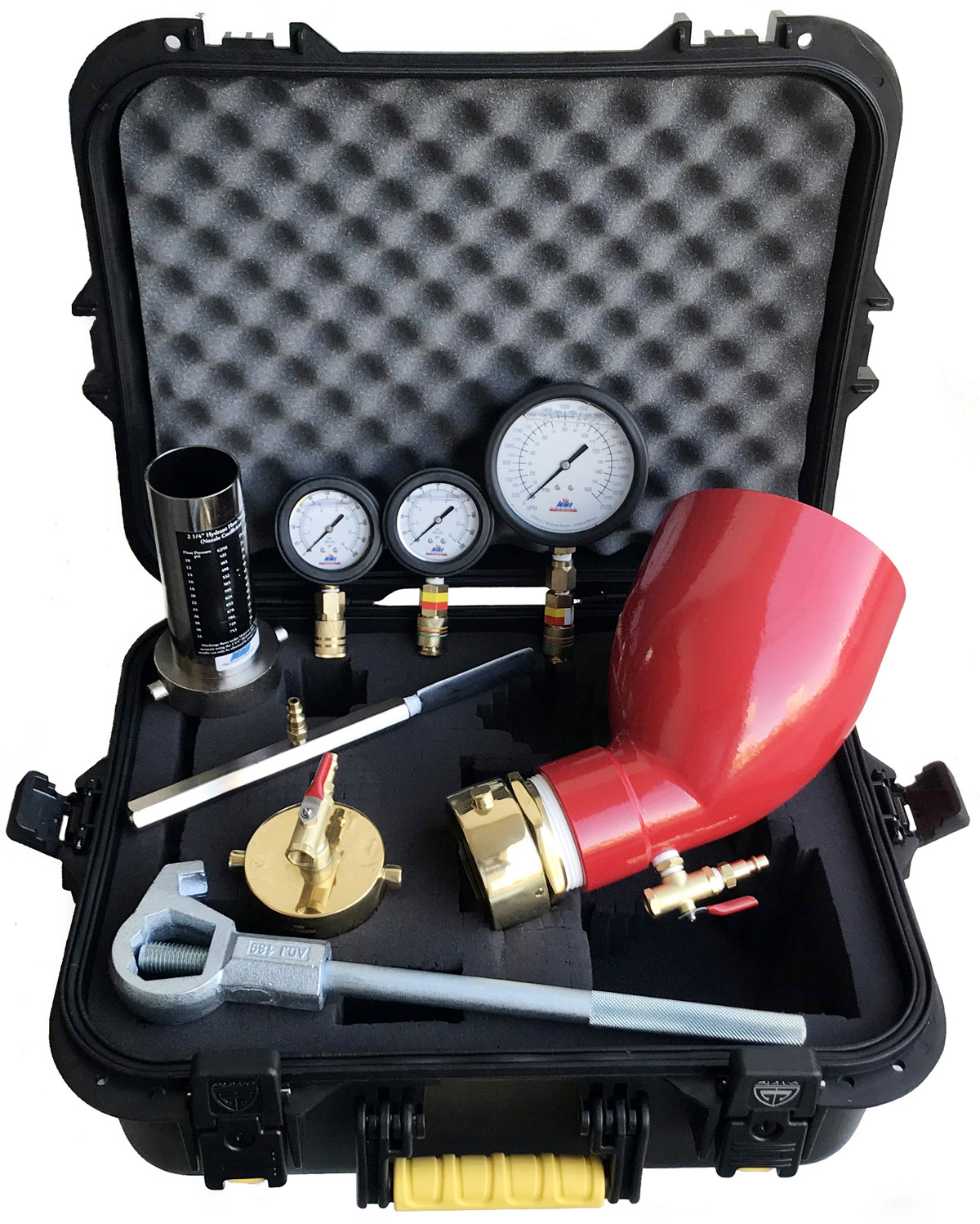 Nni hydrant test kits h fk6 hydrant flow static pressure test kit with remote in a case nvjuhfo Choice Image